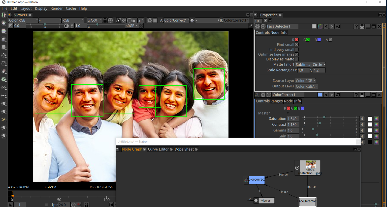 Mutiny Facedetector as OpenFX Plug-in