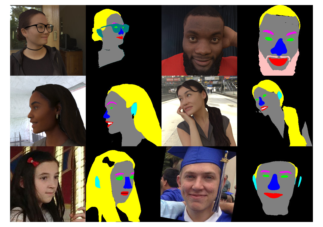 Face/Head Segmentation Dataset intro image
